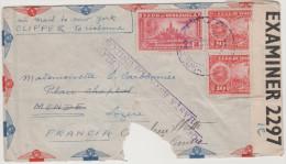 VENEZUELA - 1940 - ENVELOPPE - CENSORED Cover - CORREO AEREO - TRANSATLANTIC CLIPPER VIA LISBONA - Mixed Stamps - Via... - Venezuela