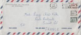 CANADA - 1973 - ENVELOPPE - Cover - Par Avion - Correo Aereo - Air Mail - Ambassade De France Au Canada - Ottawa - Vi... - Lettres & Documents