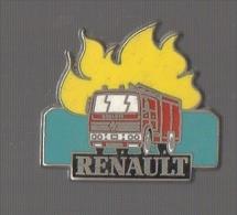 Pin´s Camion De Pompier Renault (signé Sofrec) - Brandweerman