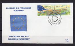 """FDC De 1989 N° """" ELECTION AU PARLEMENT EUROPEEN """" Voir Scan. Parfait état ! - FDC"""