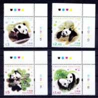 Hong Kong 2008 MNH 4v, Giant Panda, Animals, Nature Wildlife Conservation - Postzegels