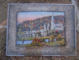 Photo Encadrée  Sous Verre D'un Château 24 X 18 X 0,6 Cm - Miniaturen