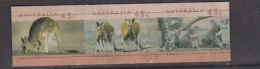 Australia Koala And Kangaroo Imperforated  Strip Of 3 Stamps - Australia