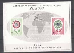 BELGIE - OBP Nr LX 45 - LUXEVELLETJE - FEUILLET DE LUXE - Europa CEPT 1964 - MNH** - Cote 100,00 € - Libretti Di Lusso