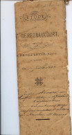 BRUGELETTE - 1879 - NOTAIRE DE REGNAUCOURT - N. Berlangé - M. RENARD - F. RENARD - 8 PAGES - Manuscrits