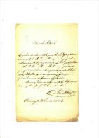 CHIMAY 1858 - BARON DE WESMINSTER - Manuscrits