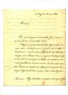 NOBLESSE - BRUGES  POUR GAND - 1824 + BARON DE CROESER DEN BERGEN - Manuscrits