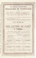 BRASSERIE - Action Brasserie De STACEGHEM Sous HARLEBEKE 1894  --  22/816 - Industrie
