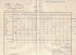 PO6665C# FATTURA ALBERGO - VILLA MARIA - CHIANCIANO TERME - SIENA  1956 - Italia