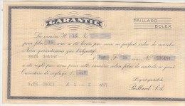 PO6687C# GARANZIA MACCHINA DA PRESA 16 Mm PAILLARD BOLEX 1957 - Cámaras Fotográficas