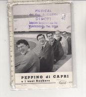 PO6758C# Brochure DISCHI CARISCH - PEPPINO DI CAPRI E I SUOI ROCKERS 1960 - Musica & Strumenti