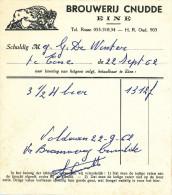 BRASSERIE -  2 Factures 1962/68 Brouwerij Cnudde - Van Heuverswyn à EINE  --  22/805 - Levensmiddelen