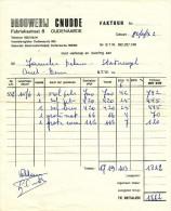 BRASSERIE - Facture 1982 Brouwerij Cnudde à OUDENAARDE  --  22/807 - Levensmiddelen