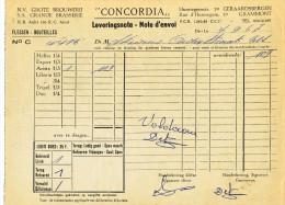 BRASSERIE - 2 Notes D´ Envoi 1967 Brouwerij Concordia à GRAMMONT GERAARDSBERGEN  --  22/809 - Levensmiddelen
