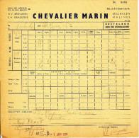 BRASSERIE - 3 Documents 1956 - Brasserie Chevalier Marin à MECHELEN MALINES  --  22/812 - Levensmiddelen