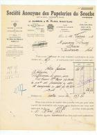 SOCIETE ANONYME Des PAPETERIES Du SOUCHE J. AUBRON & R. PLOIX à PARIS 1933 - Stamperia & Cartoleria