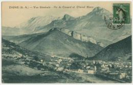 (04) 005, Digne, Autric, Vue Générale, Pic De Couard Et Cheval Blanc, Voyagée En 19??, TB - Digne