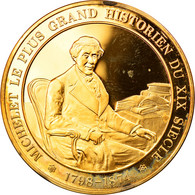 [#62988] L'Histoire De France, Médaille, Michelet Le Plus Grand Historien Du XIXeme Siècle - Brothel Tokens