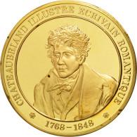 L'Histoire De France, Médaille, Chateaubriand Illustre écrivain Romantique - France