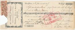BELGIQUE CARRIERES - 2 X Document Financier Via Poste Belge 1895 - Carrières Rivière Fr. Et Srs à MAFFLES  -- VV454 - Géologie