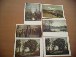 LOT DE 6 CARTES ..J.B COROT (2 Identiques..diff.de Couleurs)... - Peintures & Tableaux