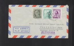 Carta Via Aerea 1949 Valencia - 1931-Heute: 2. Rep. - ... Juan Carlos I