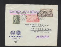 Carta Via Aerea 1949 Valencia (2) - 1931-Heute: 2. Rep. - ... Juan Carlos I