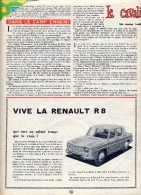 Publicite ( Journal Mickey) Voiture Dinky Toys  Renault 8 - Publicidad