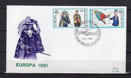 """FDC De 1981 """" EUROPA 1981 """" Voir Scan. Parfait état ! - FDC"""