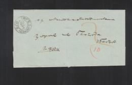 Serbia Stampless Letter 1864 (3) - Serbien