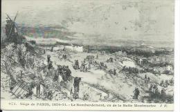 75/ PARIS ..750018 PARIS. Siège De Paris ( Commune 1870-71). Le Bombardement, Vu De La Butte Montmartre - District 18