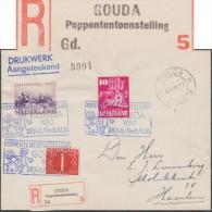 Pays-Bas 1950. Étiquette De Recommandation « Gouda Poppententoonstelling » : Gouda, Exposition De Poupées - Puppen