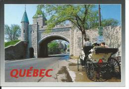 CANADA... QUEBEC. La Porte Saint Louis Taillée Dans Les Fortifications, Date De 1873... CALECHE - Québec - La Citadelle