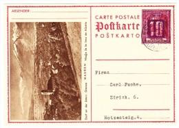 Liechtenstein Bild Ganzsache (Dorf Mauren) 6.IX-3? Schaan Nach Zürich 6 - Entiers Postaux