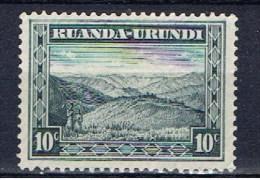 Ruanda Urundi+ 1931 Mi 44 mng Berglandschaft