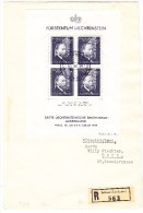Liechtenstein Mi#bloc 3 Zu#141 3.Briefmarken Austellungsblock 30.7.1938 FDC-R-Brief Nach Bern Mit AK-Stempel - Air Post