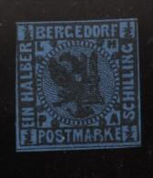 Bergedorf,1b,Falz,gep. - Bergedorf