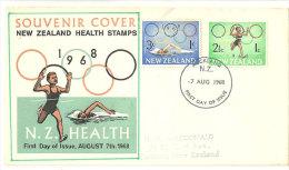 NOUVELLE-ZELANDE.  Jeux Olympiques De Mexico, Lettre FDC Adressée à Rotorua. - Zomer 1968: Mexico-City