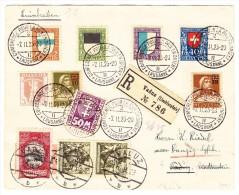 R-Brief 7.11.23 Lausanne Nach Vaduz Weitergel. 16.2.23 Vaduz Als R-Brief  Nach Danzig Mit Strafporto 50M - Suisse