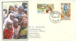 Council Of Organisations For Relief Services Overseas. Aide à L'Enfance Africaine. Lettre FDC Adressée En Australie - FDC