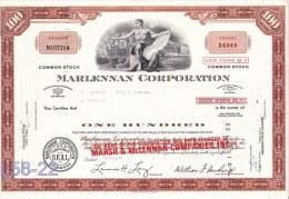 Shares: USA 1975 Marlennan Corporation 100 Shares (L58-22) - Shareholdings