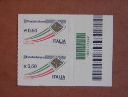 []1126)  Italia 2009  Prioritario 0.60 - Codice A Barre - Códigos De Barras
