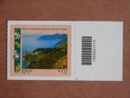 []1307)  Italia 2013  Parco Nazionale Delle Cinque Terre  -  Codice A Barre - 6. 1946-.. Repubblica