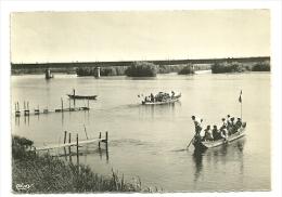 LOIRET - Dépt N° 45 = St FIRMIN S/ LOIRE 1955 = CPSM Edition REDON = LE PONT CANAL + 2 BARQUES - France