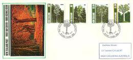 Les Arbres De Nouvelle-Zélande (Kauri & Rimu,etc). Lettre FDC Adressée En Australie. 1989. Yv.nr 1037/37 - FDC