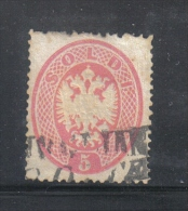 W1611 - LOMBARDO VENETO , Il 5 Soldi N. 38 Usato. Dent 14 - Lombardo-Veneto
