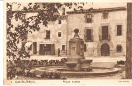 POSTAL    CASTELLTERSOL  - BARCELONA   - PLAZA NUEVA - Barcelona