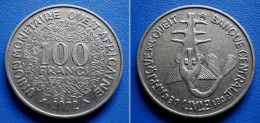 WEST AFRICAN STATES OUEST AFRICAINE 100 Francs 1972 - Monnaies