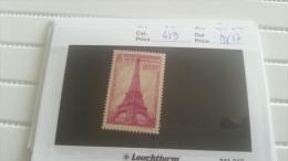 LOT 217893 TIMBRE DE FRANCE NEUF** N�429 VALEUR 17 EUROS