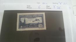 LOT 217912 TIMBRE DE FRANCE NEUF* N�6 VALEUR 26 EUROS